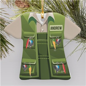 Personalized Fisherman T-Shirt Ornament U1072063