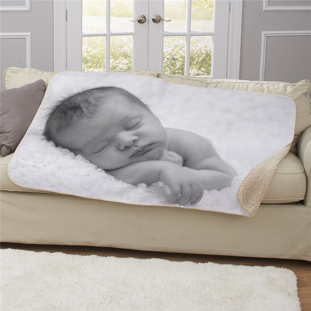 Photo Sherpa for Baby | Personalized Baby Blankets
