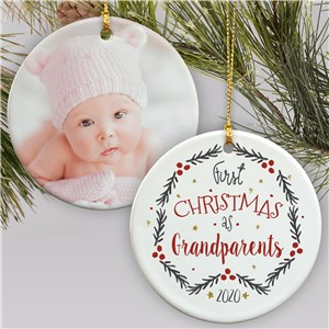 First Christmas As Photo Ornament | Picture Ornaments