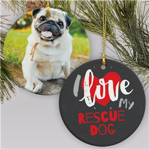 Rescue Dog Photo Ornament | Personalized Pet Ornaments