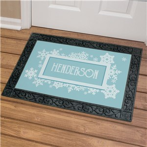 Personalized Snowflake Family Doormat | Personalized Christmas Doormats