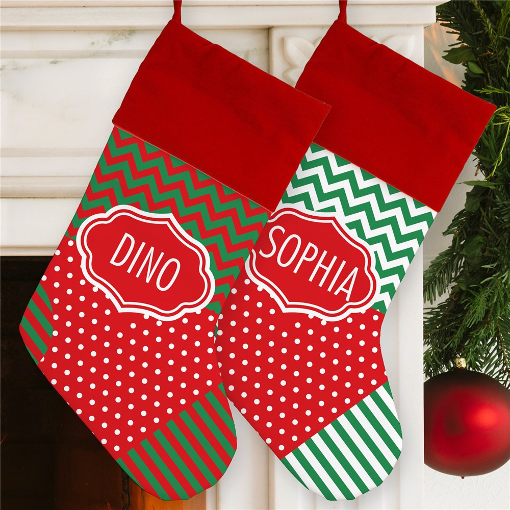Personalized Patterned Stockings | Personalized Stocking