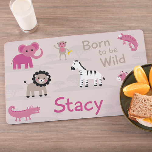 Personalized Born To Be Wild Placemat U1087393