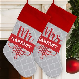 Personalized Mr and Mrs Stocking | Personalized Christmas Stockings