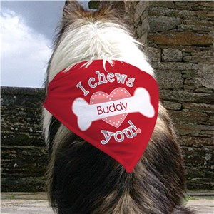 Personalized I Chews You Dog Bandana | Personalized Pet Gifts