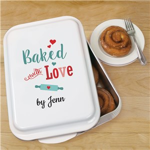 Personalized Baked With Love Cake Pan | Personalized Cake Pans