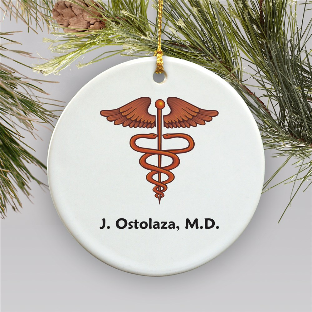 Medical Personalized Ceramic Ornament | Personalized Doctor Ornament