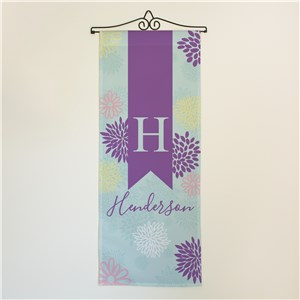 Spring Abstract Personalized Floral Wall Hanging