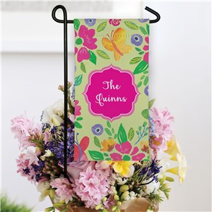 Personalized Butterflies Mini Floral Garden Flag
