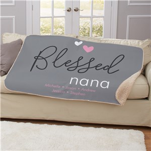 Personalized Blessed Sherpa Blanket