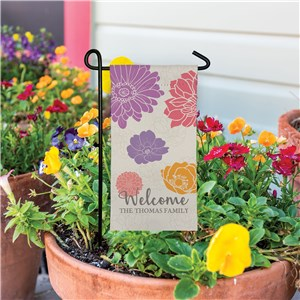 Personalized Welcome Spring Garden Flag