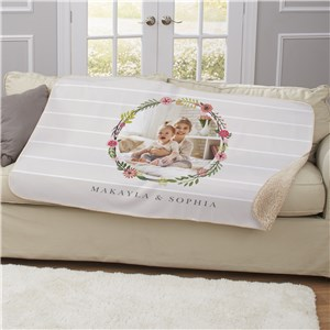 Floral Photo Sherpa Throw U1123687