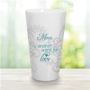 Personalized Mom Is Another Word For Love Latte Mug | Personalized Mom Cups