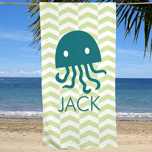 Personalized Chevron Beach Towel | Personalized Beach Towels