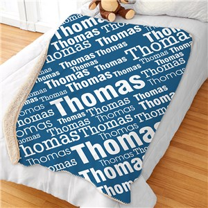 Boys Name Blanket | Personalized Kids Blankets