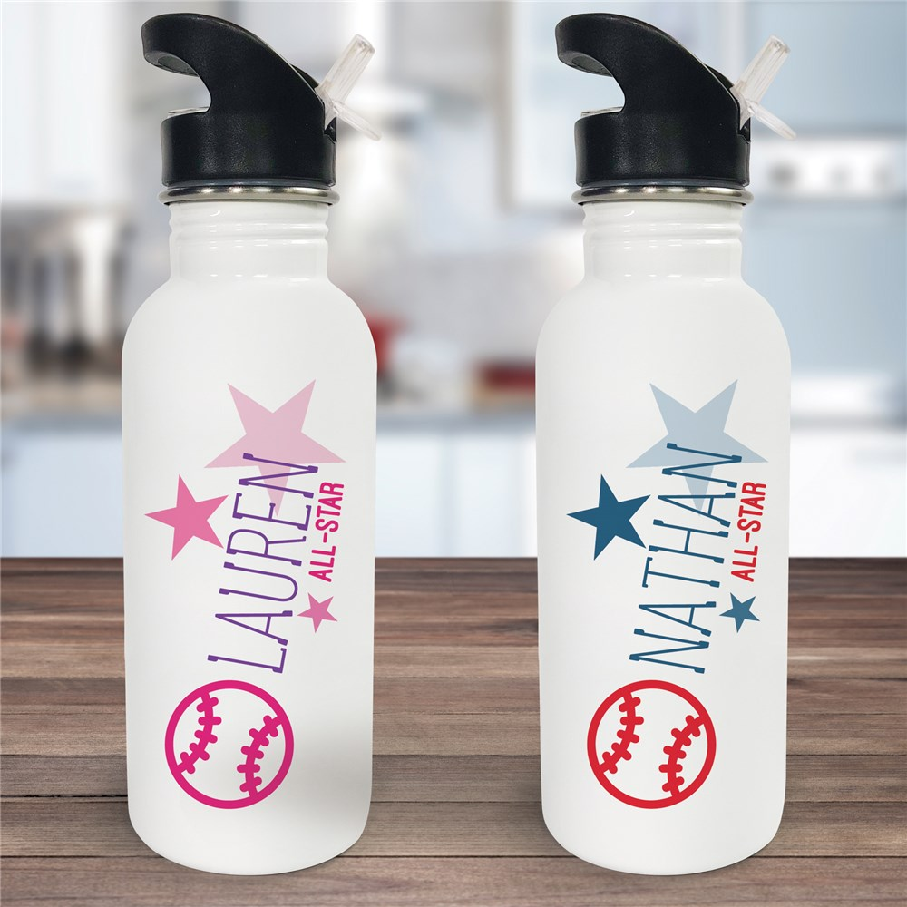 Personalized Baseball Water Bottle | Personalized Water Bottles For Kids