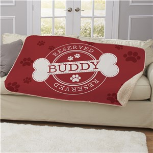 Personalized Reserved Dog Sherpa Blanket U1166787