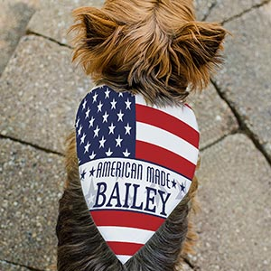 Personalized American Made Pet Bandana | Personalized Pet Bandanas