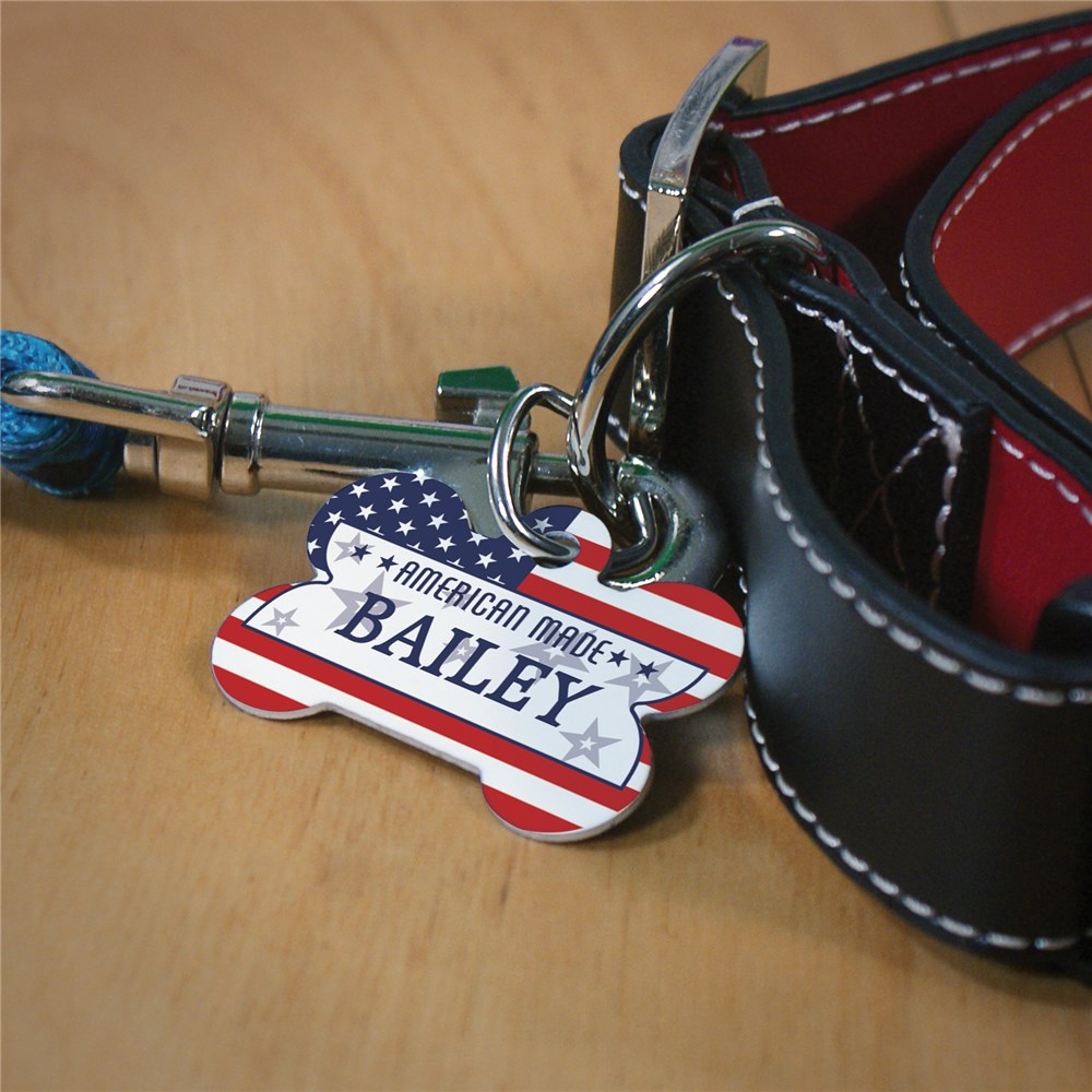 Personalized American Made Dog Bone Pet Tag | Personalized Dog Tags For Pets
