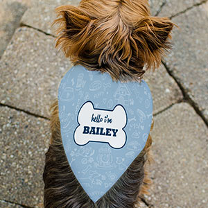 Personalized Hello Im Pet Bandana | Personalized Dog Bandanas