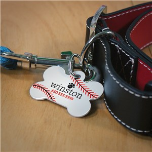 Personalized Sports Dog Bone Pet Tag | Personalized Dog Tags For Pets