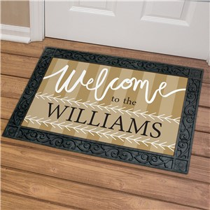Personalized Welcome To Doormat | Personalized Doormat