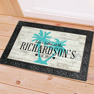 Personalized Palm Tree Doormat | Personalized Doormat