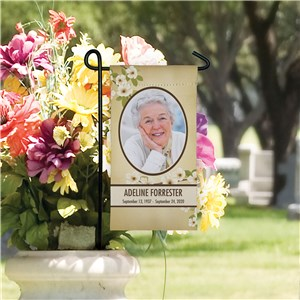 Personalized Photo Memorial Mini Garden Flag