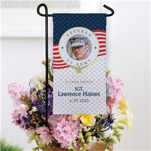 Personalized Mini Memorial Flag for Veteran