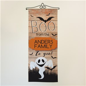 Personalized Boo To You Wall Flag | Fall Home Decor