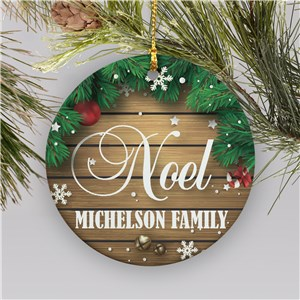 Personalized Noel Round Ornament | Personalized Family Christmas Ornaments