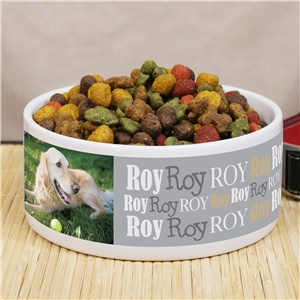 Personalized Photo Pet Food Bowl | Photo Pet Gifts