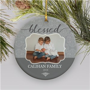 Personalized Blessed Photo Ornament | Photo Ornaments
