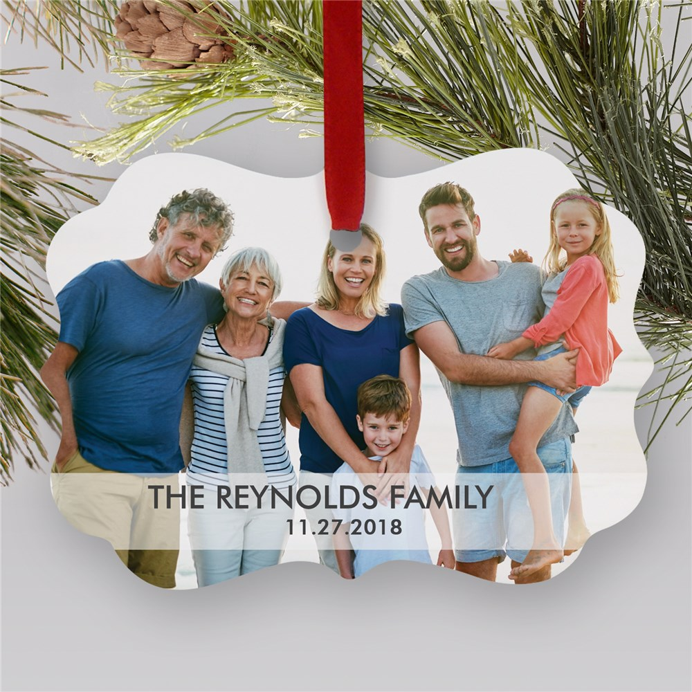 Personalized Holiday Family Photo Shaped Ornament | Personalized Photo Ornaments