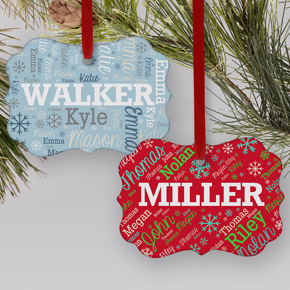 Personalized Word-Art Benelux Ornament | Personalized Christmas Ornaments