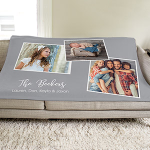 Personalized Photo Collage Throw | Photo Sherpa Blankets