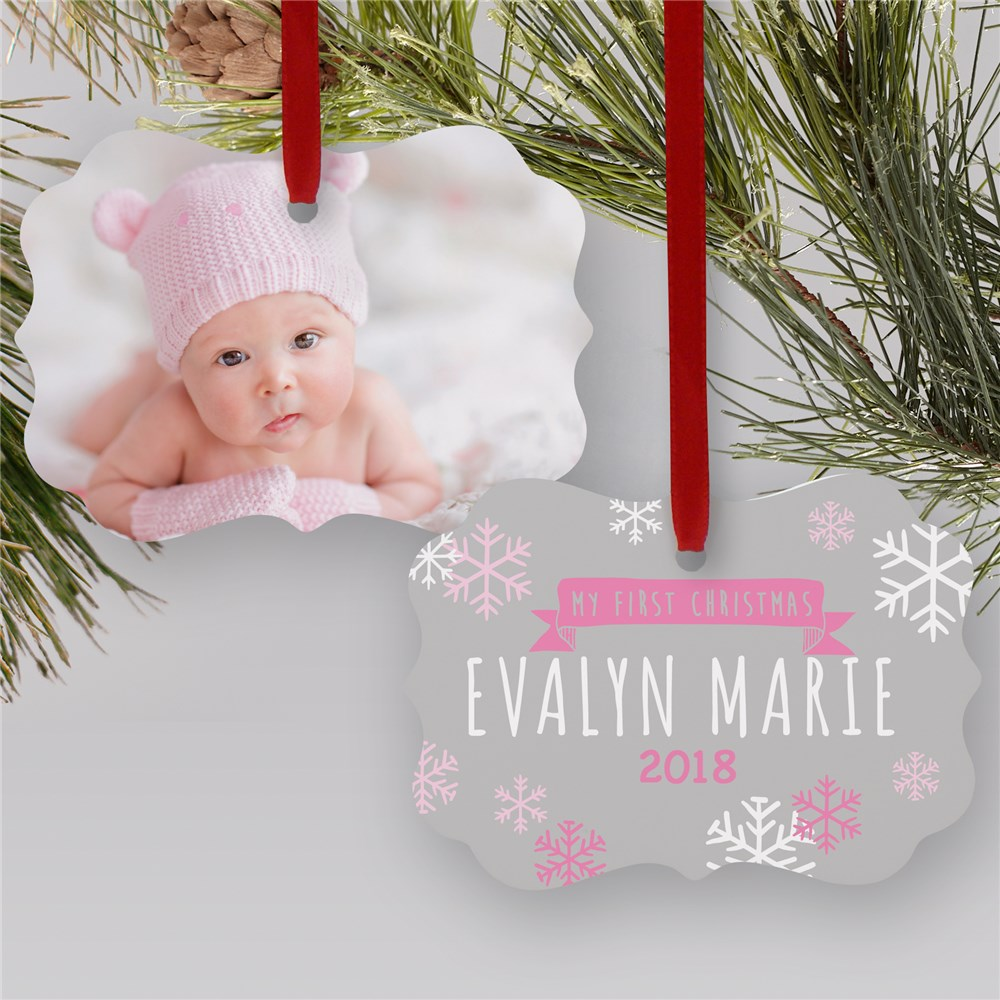 Personalized My First Christmas Photo Ornament | Personalized Baby Ornaments