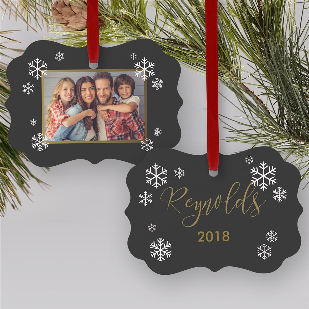 Double-Sided Personalized Family Photo Ornament | Photo Ornaments