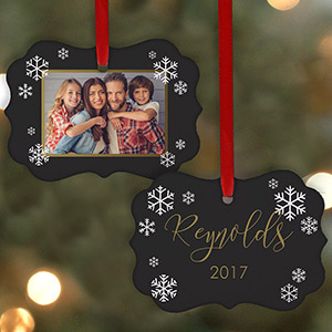 Personalized Family Photo Double-Sided Ornament | Photo Ornaments