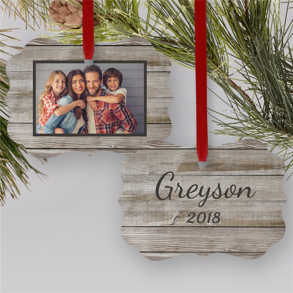 Personalized Vintage Family Photo Ornament | Photo Ornaments