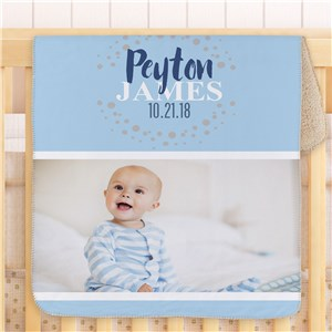 Personalized Photo Baby Sherpa Blanket | Baby Photo Blanket