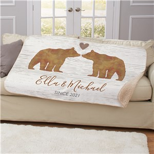 Bear Sherpa Blanket | Bears Personalized Valentine's Blanket