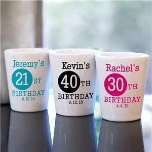 Personalized Birthday Shot Glass | Personalized Birthday Party Gifts