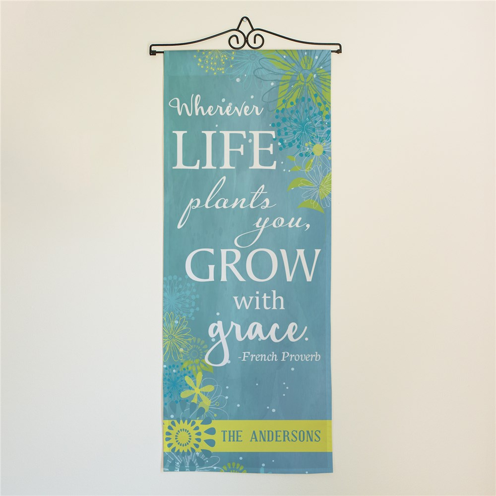 Personalized Grow With Grace Wall Hanging