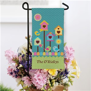 Bird House Mini Garden Flag for Spring