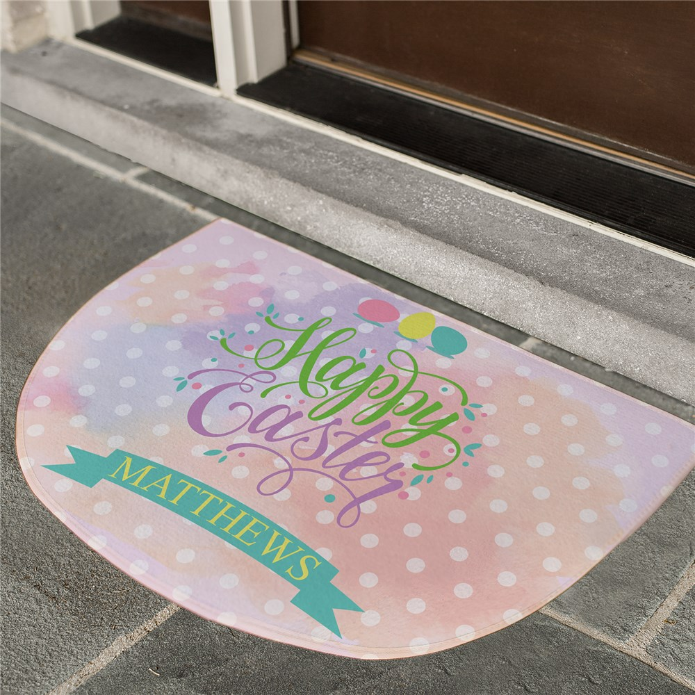 Personalized Easter Celebration Doormat | Personalized Easter Decor