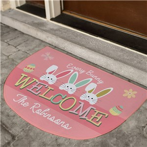Easter Welcome Doormat | Easter Personalized Door Mats