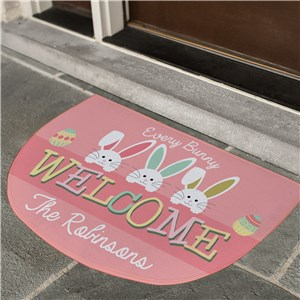 Personalized Every Bunny Welcome Doormat | Easter Personalized Door Mats