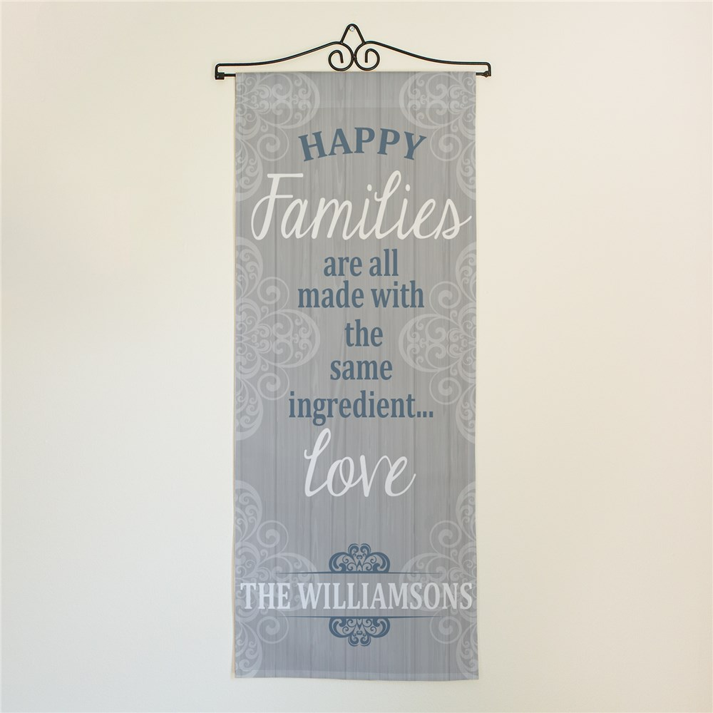 Personalized Family Love Ingredients Wall Hanging | Personalized Door Signs
