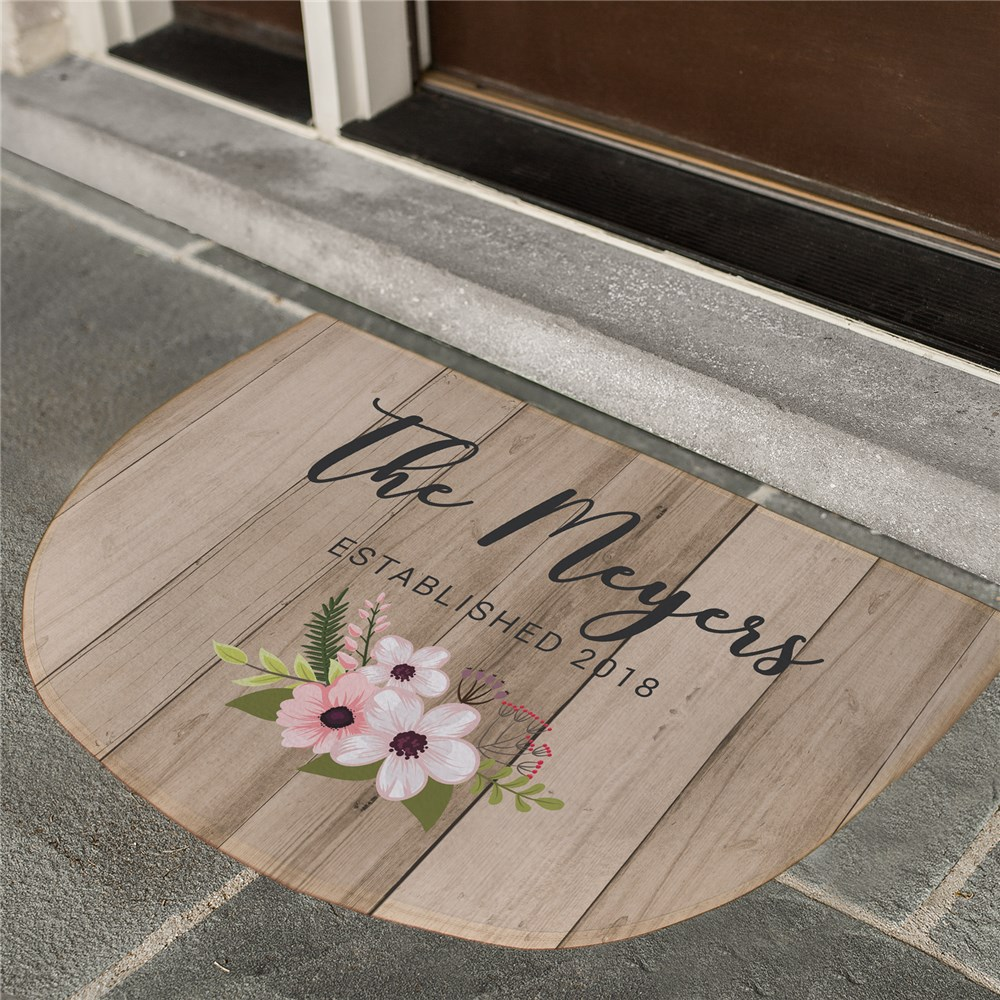 Personalized Floral Pallet Doormat | Personalized Door Mats